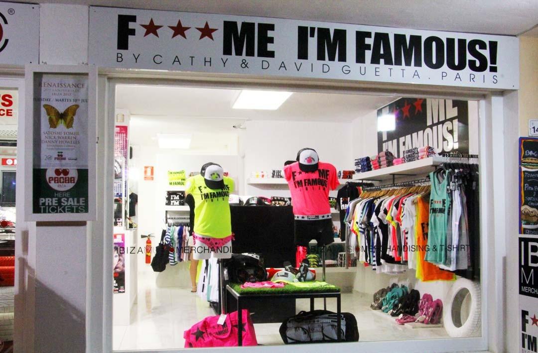 Boutique Fuck me I'm famous à Ibiza