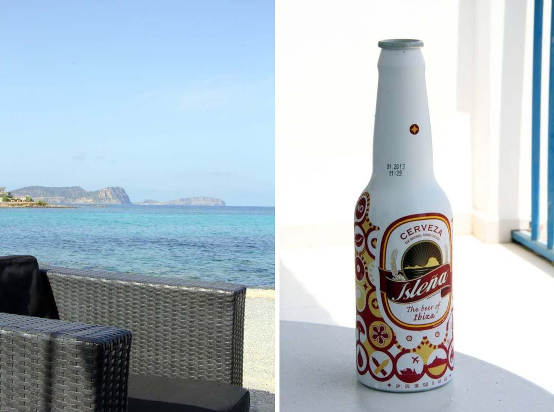 Fiesta à Ibiza, bar sur la plage