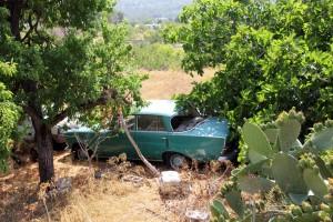 Vieille voiture à Ibiza
