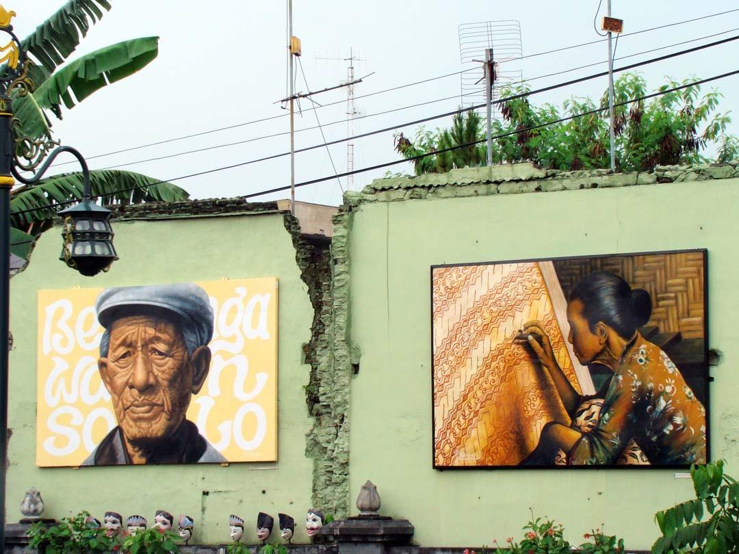 Java fresque murale