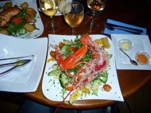 homard restaurant marché de Beresford à Jersey