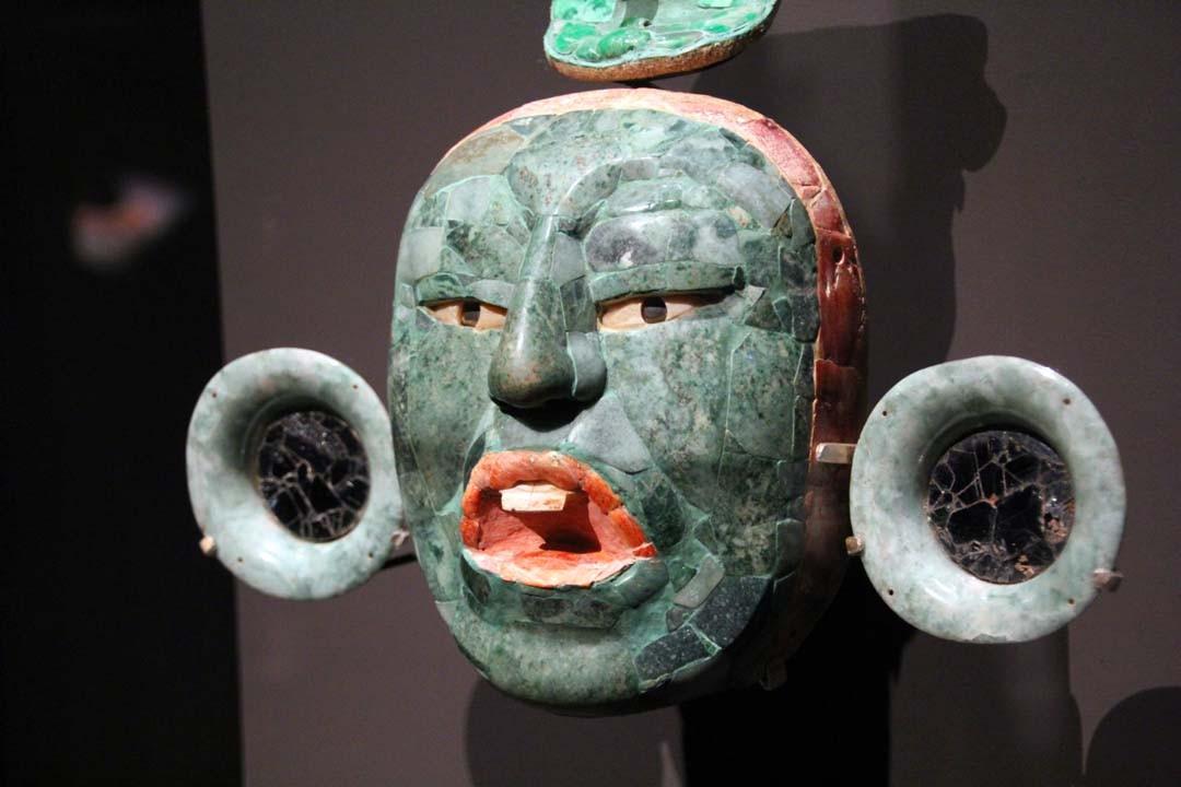 Masque funéraire Exposition Mayas au Musée du Quai Branly à Paris
