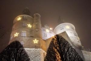Lumières de Noël de Montbéliard sur le Château