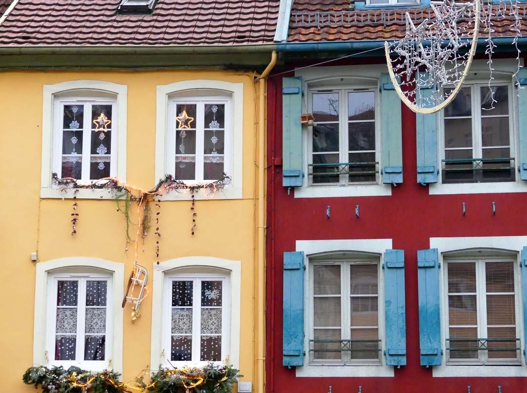 Façades maisons Montbéliard