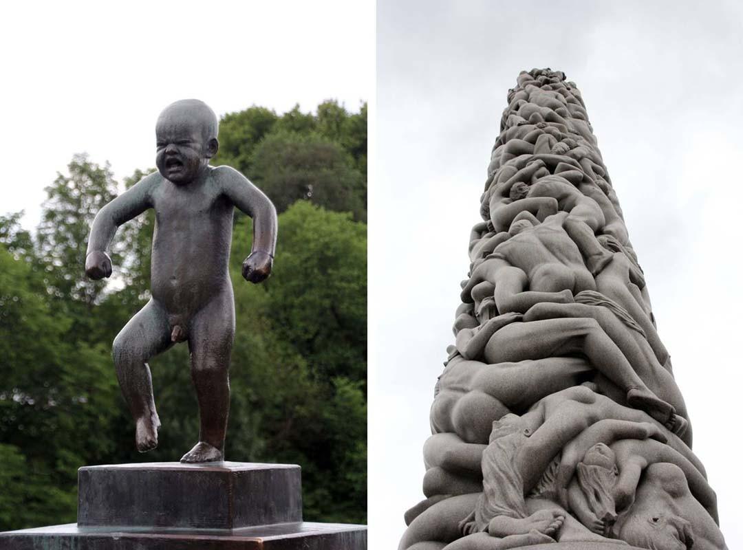 Vigeland park Monolith Oslo