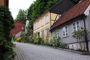 Rues à Oslo en Norvège