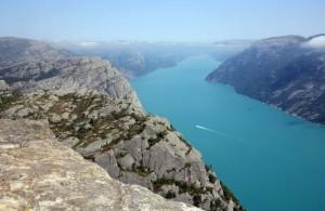 Vue Preikestolen en Norvège