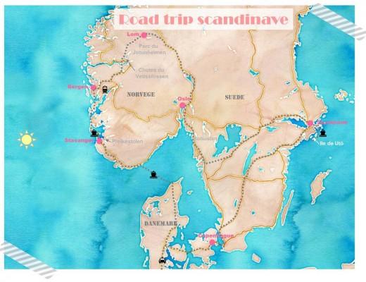 Itinéraire road trip Scandinavie Danemark Suède Norvège