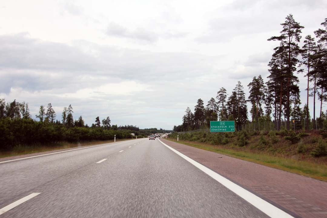 Road trip Route Suède