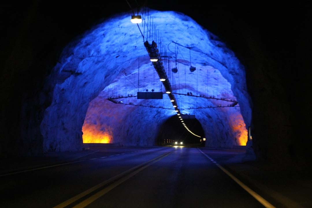 Plus long tunnel routier du monde en Norvège