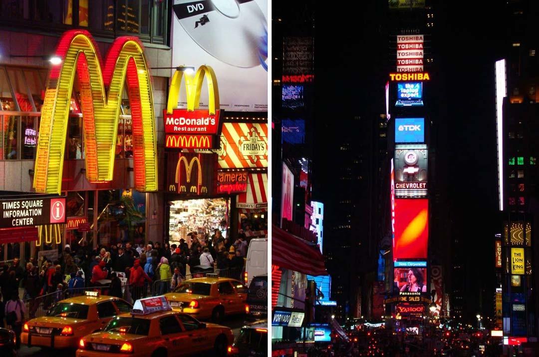 Times Square et Broadway