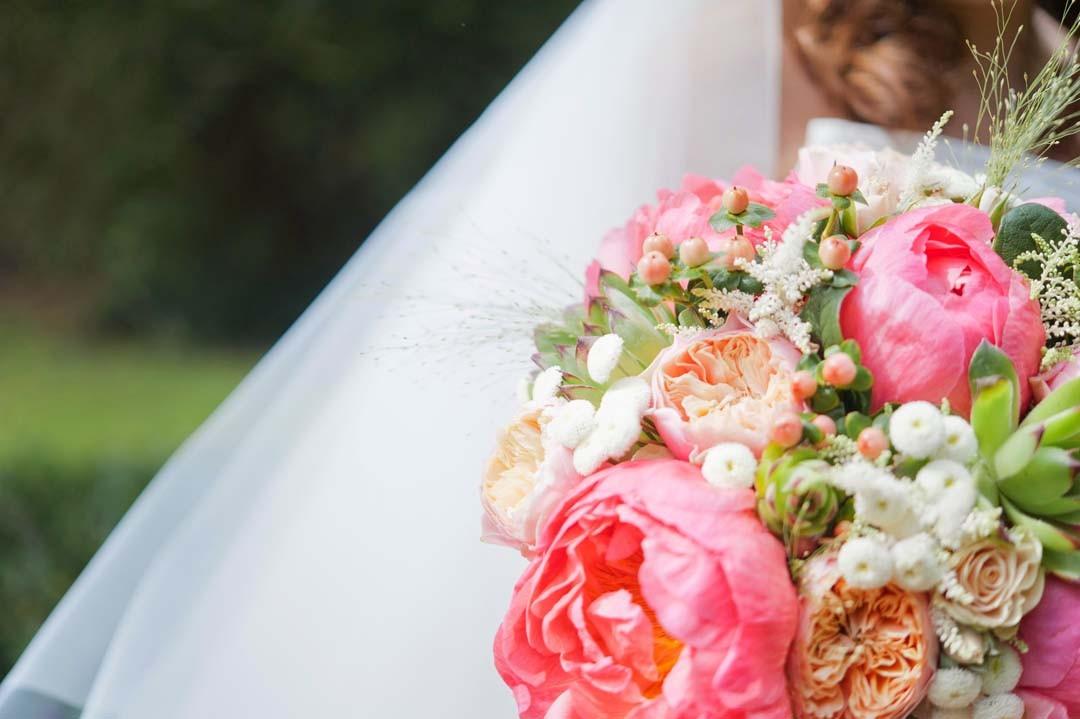 Inspiration mariage bouquet pivoines