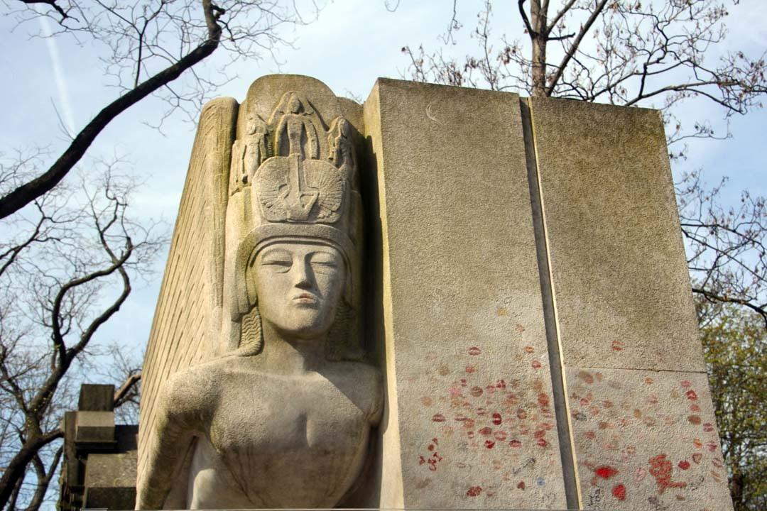 Cimetière du Père Lachaise à Paris - Tombe Oscar Wilde
