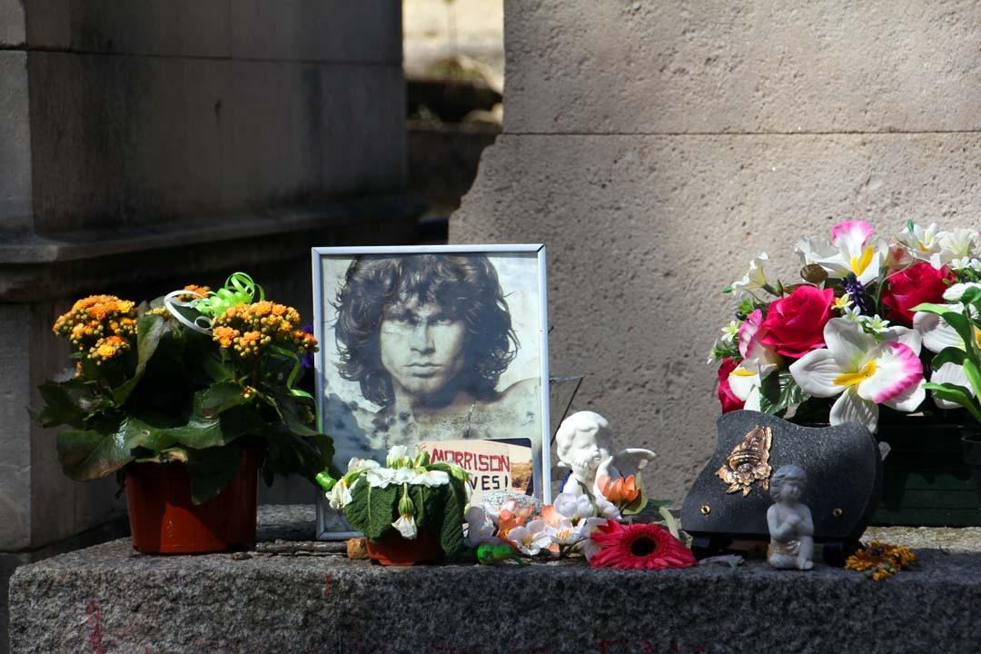 Cimetière du Père Lachaise à Paris - Tombe Jim Morrison