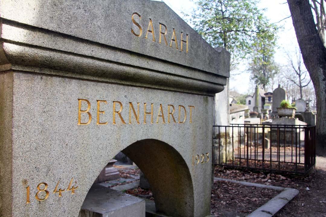 Cimetière du Père Lachaise à Paris - Tombe Sarah Bernhardt
