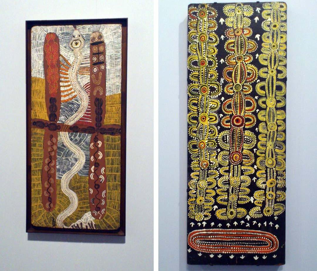 Exposition sur la peinture aborigène au Musée du Quai Branly