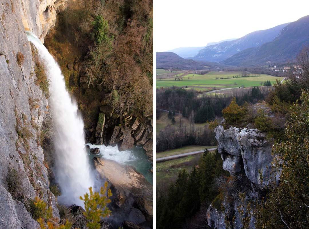 Cascade de Cerveyrieu Bugey Ain Montagnes du Jura