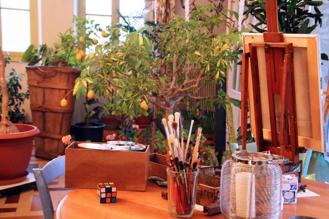 Atelier jardin d'hiver Clos du Luthézieu Bugey Ain Montagnes du Jura