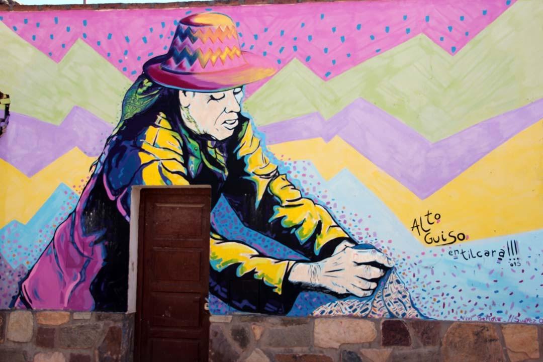 Façade colorée en Argentine à Tilcara