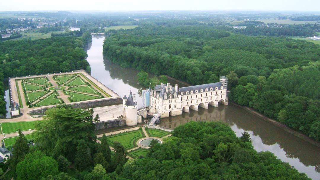 Montgolfière au Château de Chenonceau