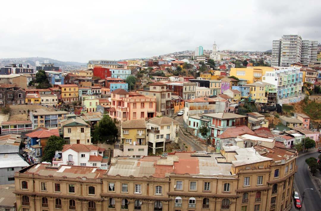Vue sur Valparaiso au Chili