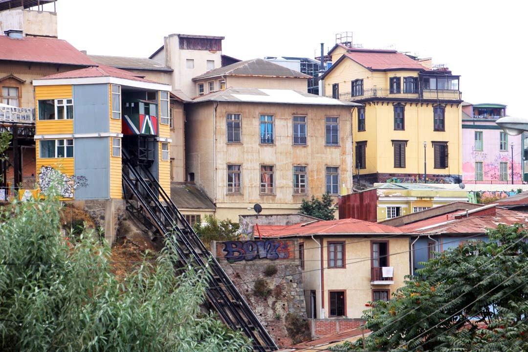 Funiculaires à Valparaiso au Chili