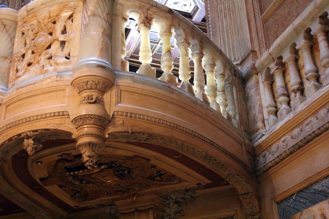Escalier Hôtel particulier de la Païva Champs Elysées Paris