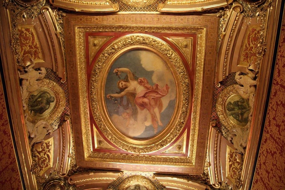 Plafond de l'Hôtel de la Païva sur les Champs Elysées