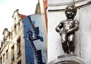 Manneken Pis et BD à Bruxelles