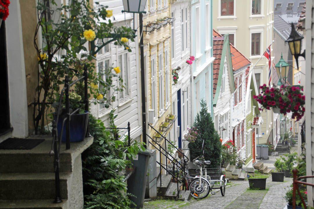 Rues piétonnes de Bergen
