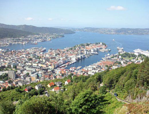Vue sur Bergen depuis le Mont Floyen