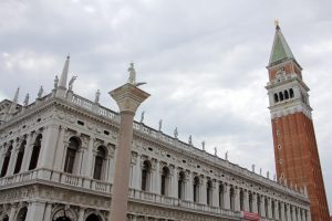Venise, campanile et palais ducal, place Saint Marc