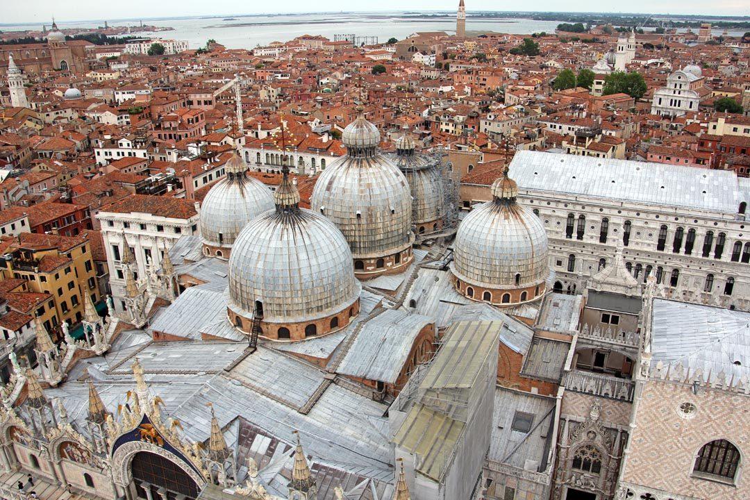 Venise, vue depuis le Campanile sur la Cathédrale Saint Marc