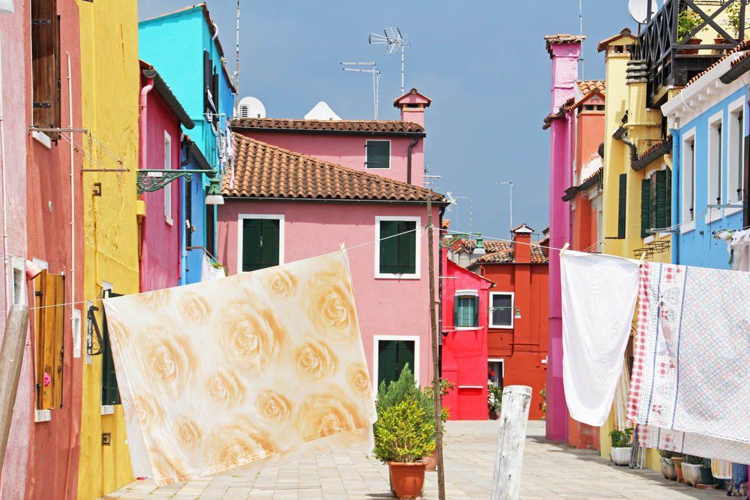 L'île de Burano à Venise en Italie