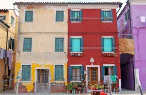 Maisons colorées de Burano à Venise