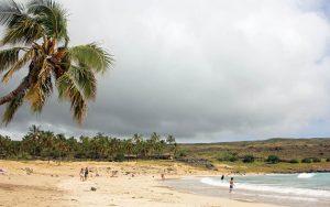 Plage Anakena à l'Ile de Pâques - Rapa Nui