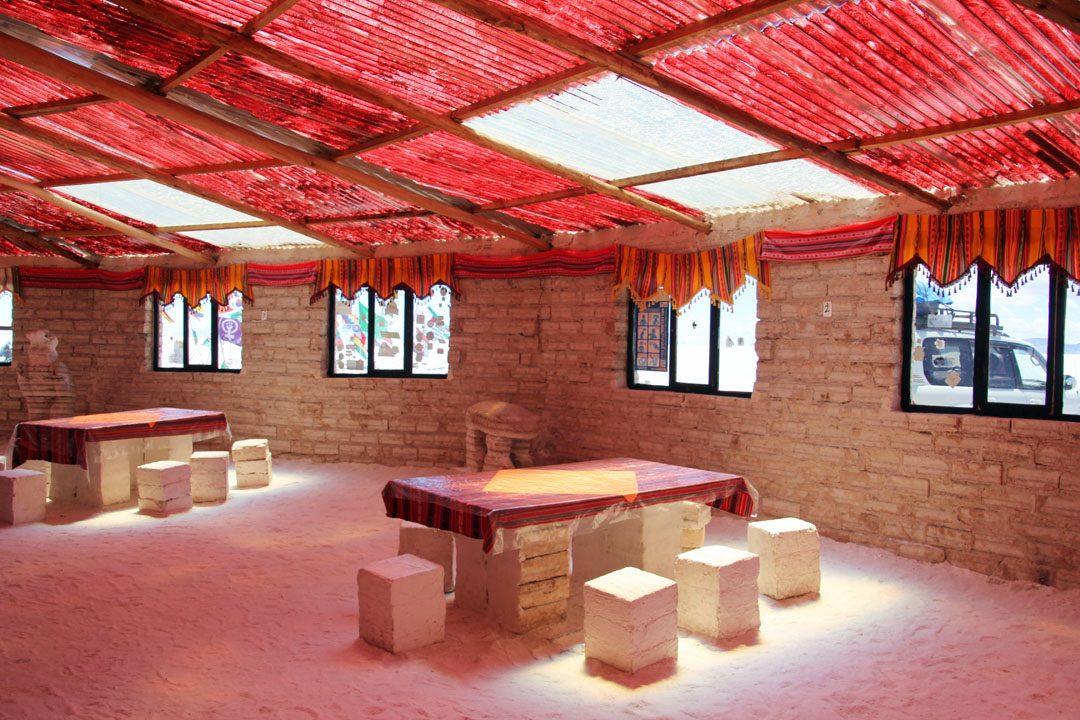 Hôtel de sel au Salar d'Uyuni en Bolivie