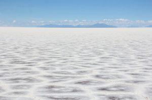 Le sel du Salar d'Uyuni en Bolivie