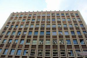 Immeuble d'architecture communiste à Bucarest
