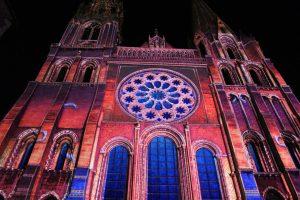 Cathédrale Notre Dame de Chartres en lumières