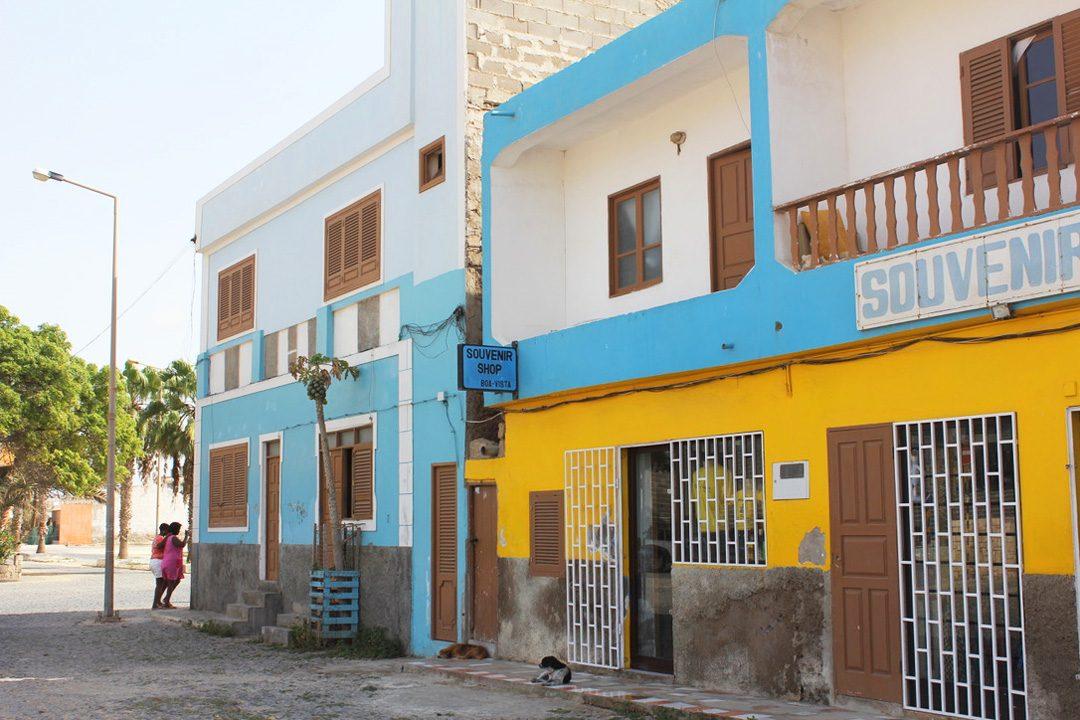 Sal Rei, capitale de l'île de Boa Vista au Cap Vert