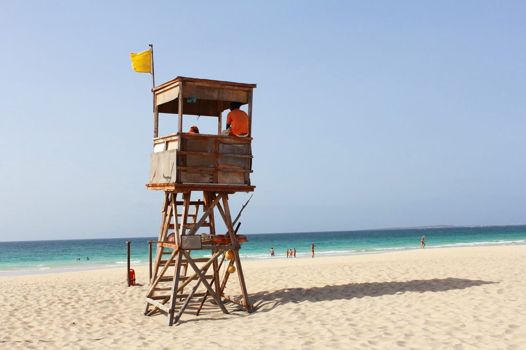 Plage sur l'île de Boa Vista au Cap Vert
