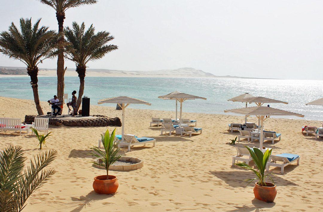 Praia de Chaves sur l'île de Boa Vista au Cap Vert
