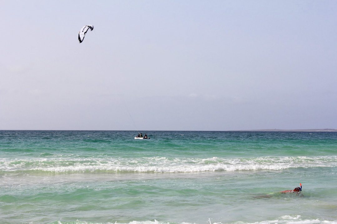 Kitesurf et snorkeling sur l'île de Boa Vista au Cap Vert