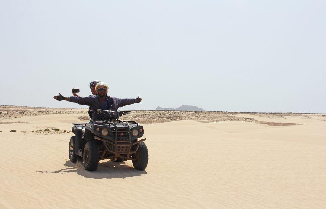 Faire du quad à Boa Vista au Cap Vert