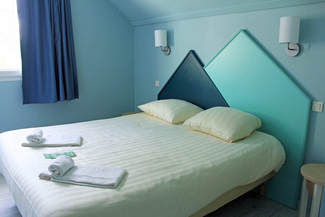 Décoration des chambres au Center Parcs du Lac d'Ailette