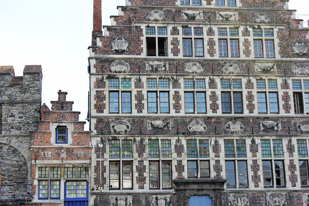 Architecture flamande à Gand en Belgique