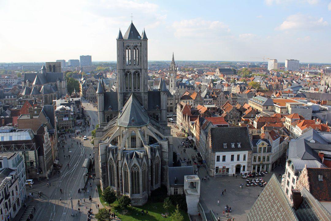 Vue depuis le beffroi de Gand en Belgique