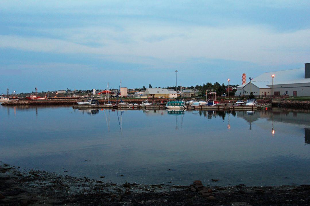 Village de pêcheurs sur le littoral canadien