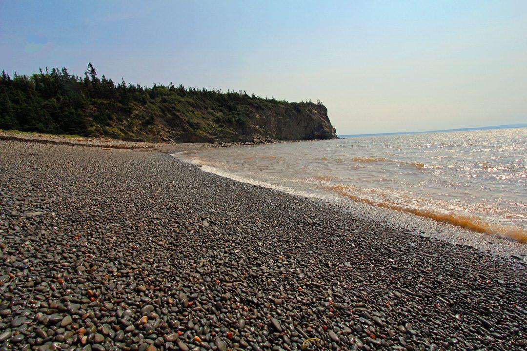 Plage du littoral canadien au Nouveau-Brunswick